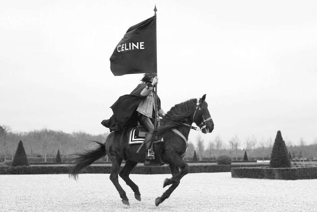 CELINE, Horse, Flag, Style, Medieval, Chateau,