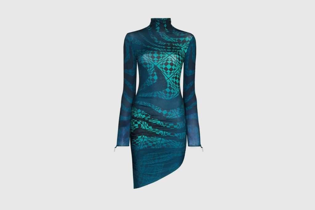 Maisie Wilen Orbit City asymmetric minidress