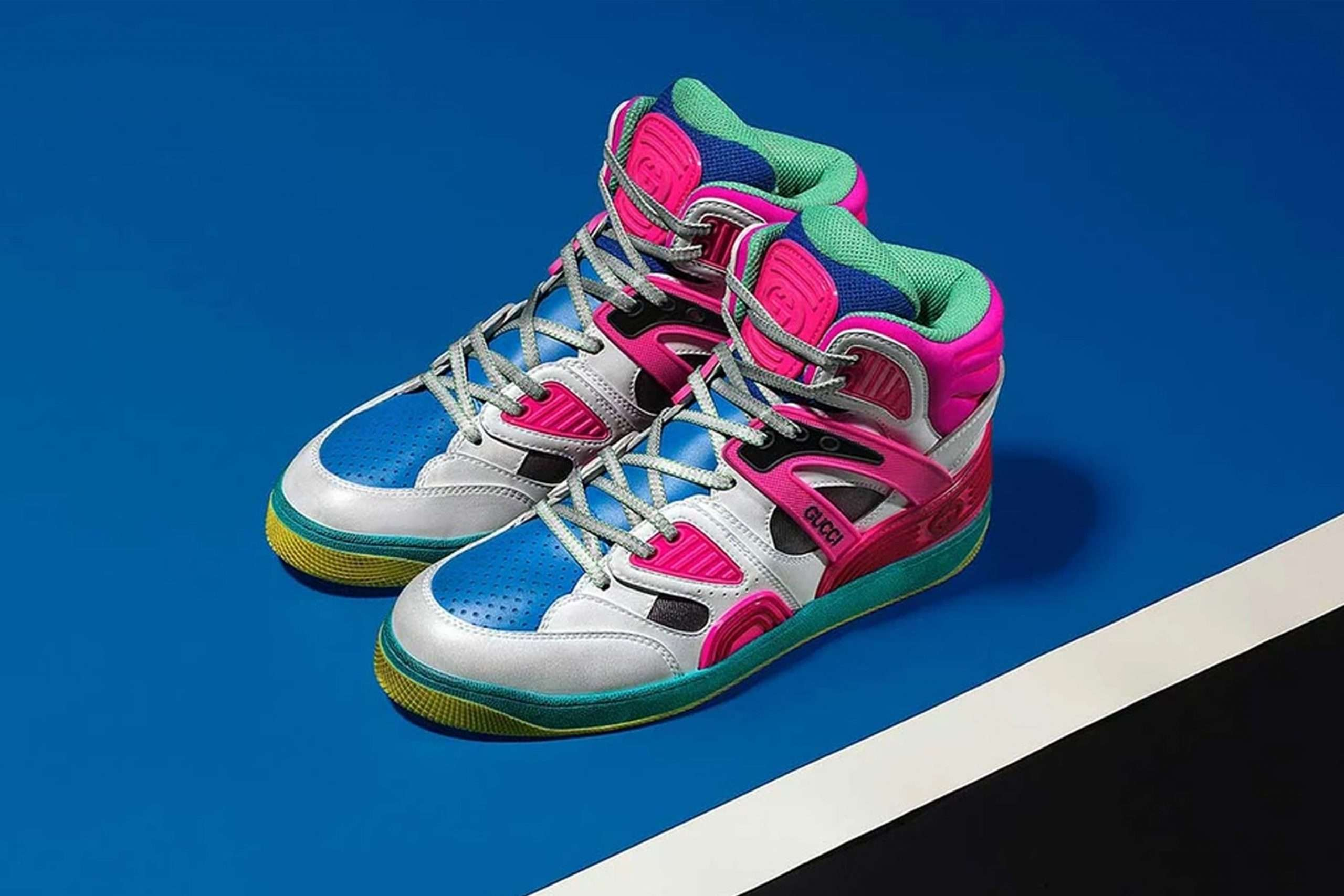 Gucci sustainable material basketball sneaker