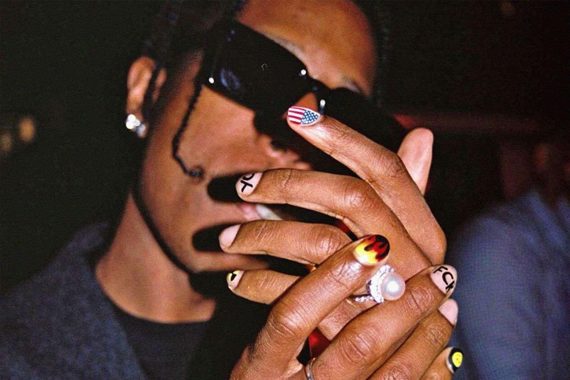 asap rocky nails